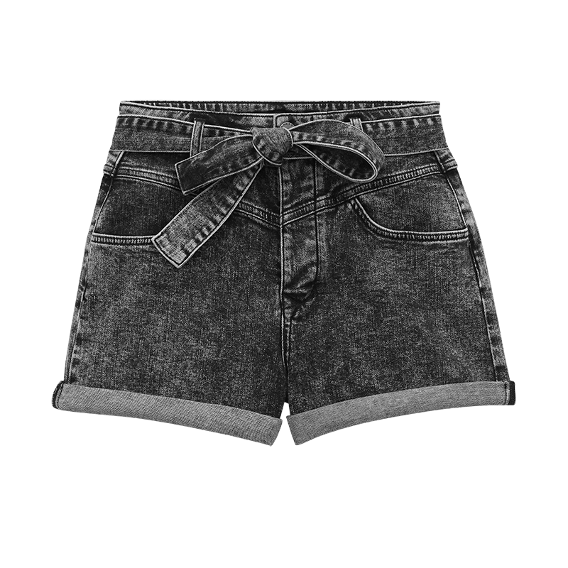 Belted faded shorts - Skirts & Shorts - MAJE